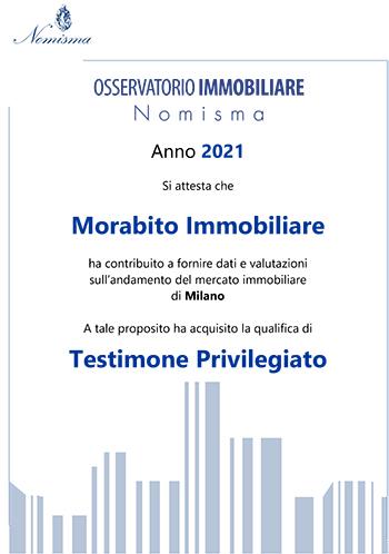 Certificato Nomisma Morabito Immobiliare